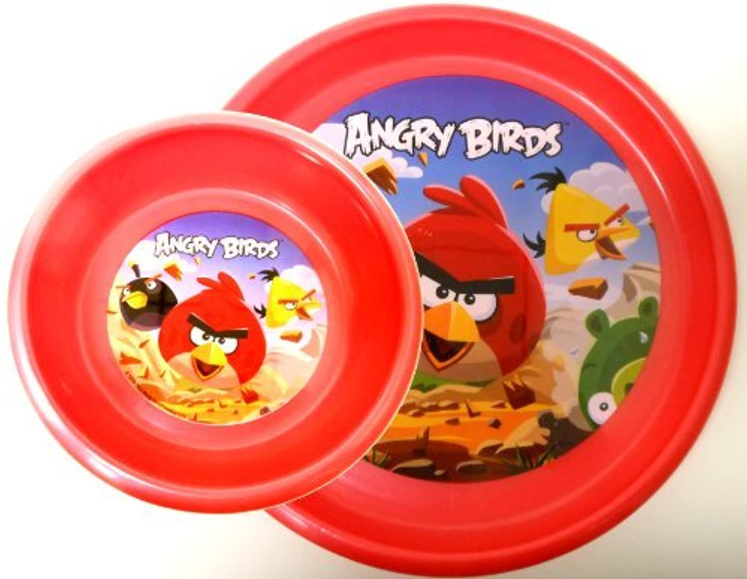 Angry Birds Plastic Plate and Bowl Set by Rovio [並行輸入品]