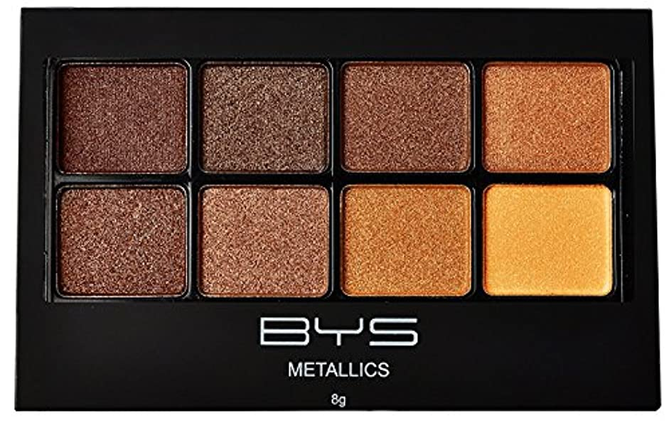 変換逃げるバイオリニストバイズ 8パレットメタリックアイシャドウ # Metallics Browns