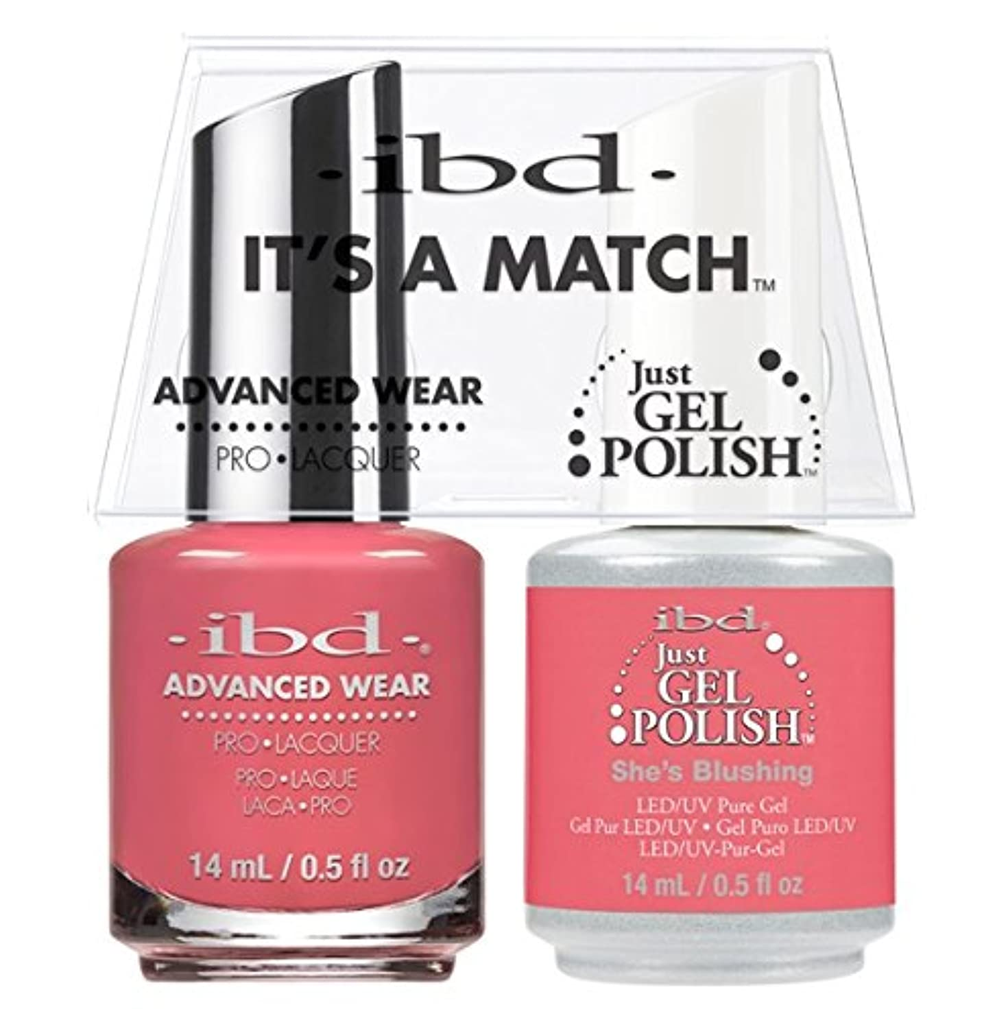 角度避ける左ibd - It's A Match -Duo Pack- She's Blushing - 14 mL / 0.5 oz Each