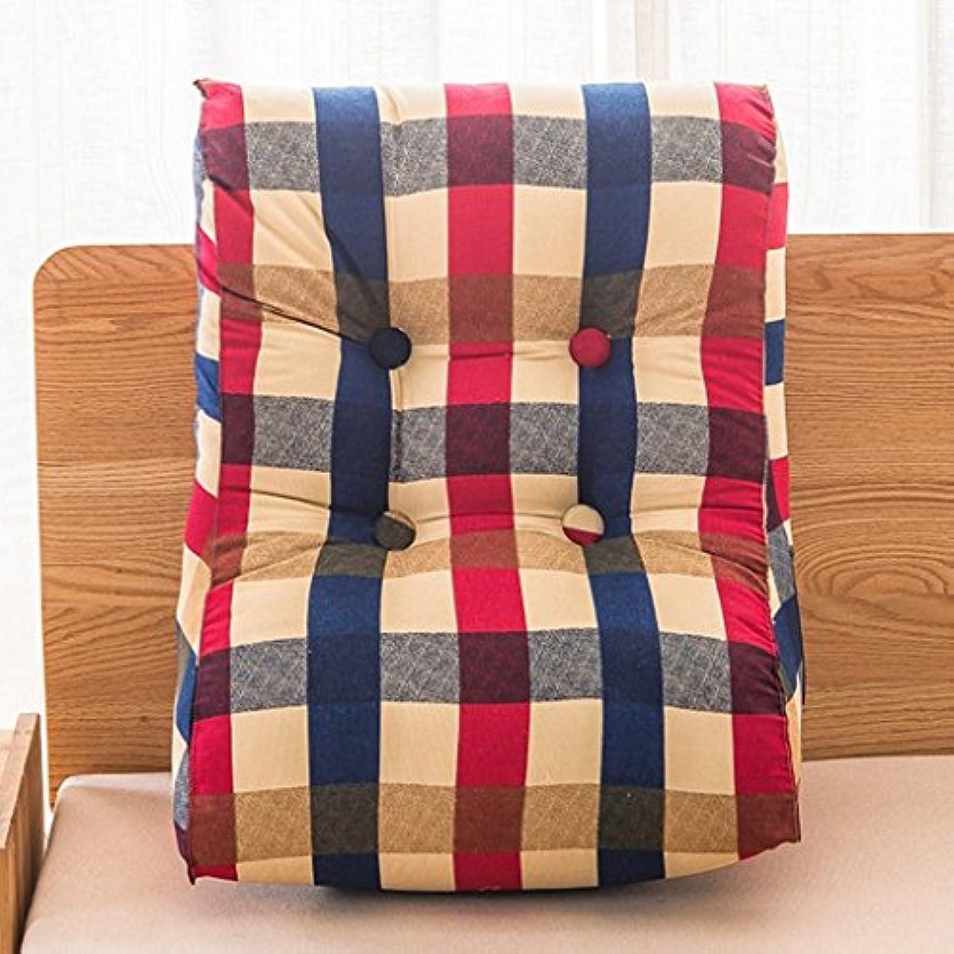 ヘアショップがっかりする18-AnyzhanTrade 三角形のソファーの前立て取り外し可能なベッドサイドの大きいあと振れ止めの枕クッション (Color : 3, サイズ : 45x55cm)