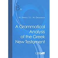 A Grammatical Analysis of the Greek New Testament (Subsidia Biblica)
