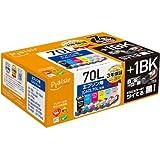 プレジール 互換インクカートリッジ EPSON 6色セット +70L-BK IC6CL70L PLE-E70L6P+1BK