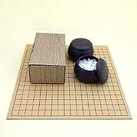囲碁セット ゴム盤の碁盤(日本棋院取扱)とP碁笥?碁石普及セット