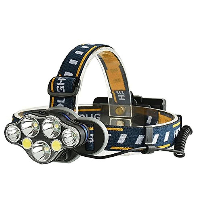 盲信送金ジャーナルRaiFu ヘッドライト 7ライト USB充電式 T6 + COB 高輝度LED 屋外 ライト用 温暖化ランプ 防災 登山 釣り ランニング 夜釣り キャンプ ヘルメットライト ランタン