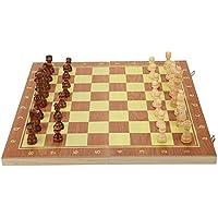 木製 チェスセット29cm 39cm 折り畳み式チェス盤 チェス盤 チェス駒セット チェスゲーム パーティー 誕生日 プレゼント(39×20×4cm)