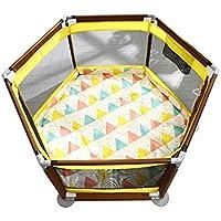 Playpen子供の安全フェンスプラスチックパイプ6パネルポータブル折り畳み式ベビー屋内屋外の安全ゲームPlaypenフェンス (色 : Style2)