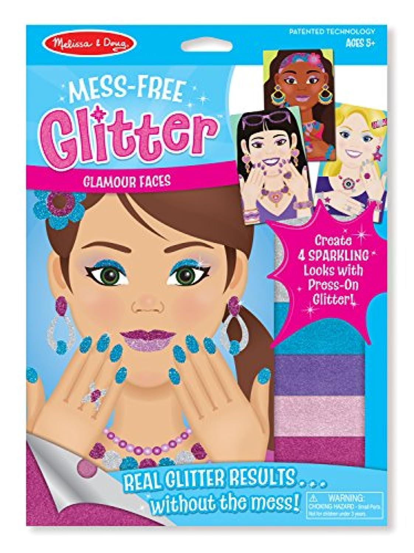 Melissa & Doug mess-free Glitterクラフトキット – Glamour面