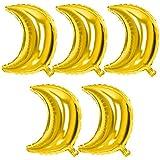Blesiya バルーン 風船 月 飾り付け 飾り 装飾 5個 4色選べる - ゴールド