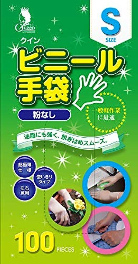弾性バスタブ非行宇都宮製作 クイン ビニール手袋(パウダーフリー) S 100枚