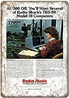 Radio Shack Computer System 金属板ブリキ看板警告サイン注意サイン表示パネル情報サイン金属安全サイン