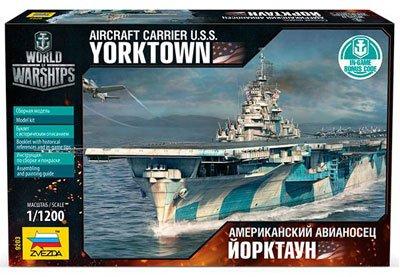 ズベズダ 1/1200 アメリカ海軍 空母ヨークタウン プラモデル ZV9203