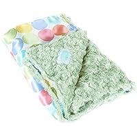AllyZabba Pastel-Dot Kiwi Large Baby Blanket by AllyZabba