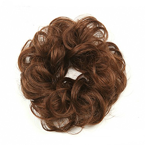 Wig Chou Round Wig Round Curl Bun Wig Hair Extension Womens Kids