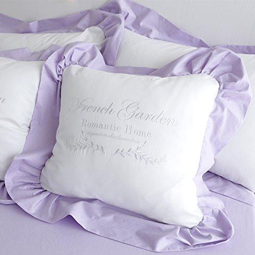 姫系優雅な淡い紫フリルデザイン抱き枕 おしゃれクッション