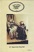 "maddrill & Wright Dry Goods Store裁縫パターンmw106–Depression Rag Doll 28"""