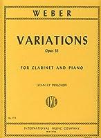 WEBER - Variaciones Concertantes en Sib Mayor Op.33 para Clarinete y Piano (Drucker)
