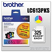 3pk Lc613pks Cyan Magenta Yellow For Mfc-6490cw by Brother
