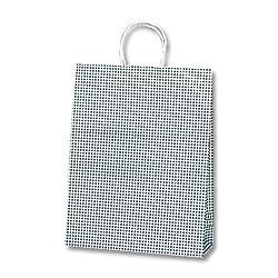 ヘイコー 手提 紙袋 25CB 2才 ギンガムミニ クロ 32x11.5x41cm 50枚