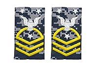 9 アメリカ海軍 肩章 階級章 部隊最上級兵曹長 ワッペン レプリカ NWU迷彩