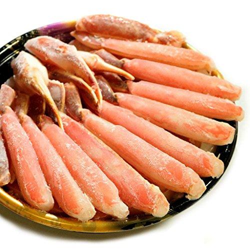 黒帯 ギフトセット 生ズワイガニ ポーション 1.2kg 特大 生 ずわい蟹 かに むき身 良品選別済 -