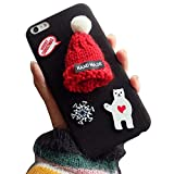 Vandot iPhone 6 Plus/ iPhone 6S Plus 5.5 インチ 用 保護ケース クリスマス プレゼント めっちゃ可愛い 3D ニット帽子 熊 雪 のデザイン ハード PC ア