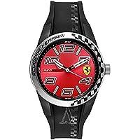 [フェラーリ]FERRARI メンズ RED REV T ブラック シリコン 830335 腕時計 [並行輸入品]