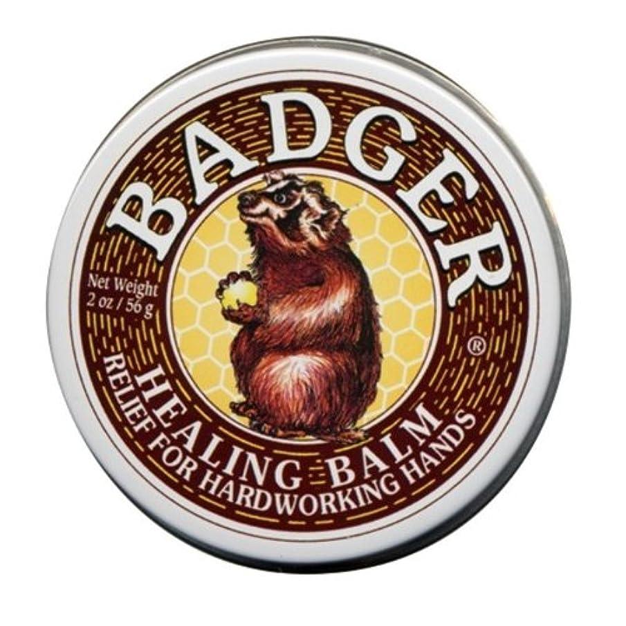後ろにアサー一方、Badger バジャー ヒーリングバーム【大サイズ】 56g【海外直送品】【並行輸入品】