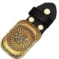 Western Retro Belt Buckle Belt Copper Belt Buckle For Men Gold Tone Animal Belt Buckle (Chinese Character, Black)