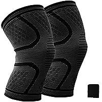 膝サポーター ( 2個セット)加圧式膝サポート 膝固定 関節 靭帯 サポート ランニング バスケ 登山アウトドアスポーツ 怪我防止 通気性 伸縮性 3サイズ & 汗取り用タオル型の手首当て 一年保証付き