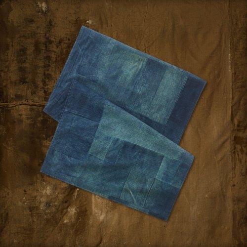 (デニム&サプライ ラルフローレン)Denim&Supply Ralph Lauren スカーフ Patchwork Twill Scarf ブルーデニム Blue Denim 並行輸入品