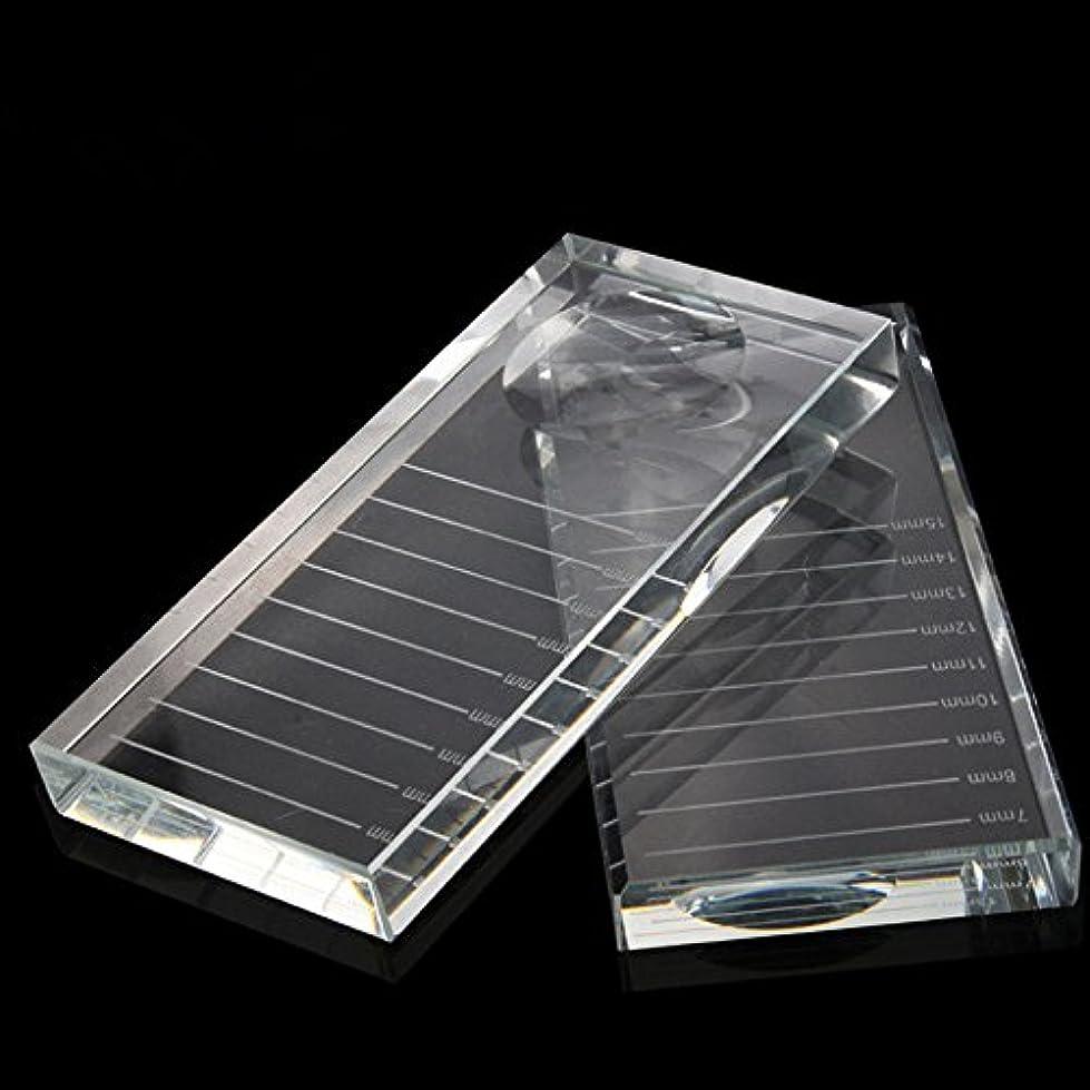 レンディション所有権スリンクまつげエクステ接着剤ツールのクリスタル接着剤パレットラッシュホルダー