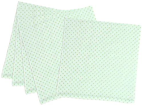 5枚組 ハーフサイズ ドビー織 水玉柄 仕立て布おむつ グリーン TK713 日本製