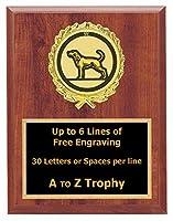 犬Plaque Awards 7x 9木製動物TrophyペットTrophies Free Engraving