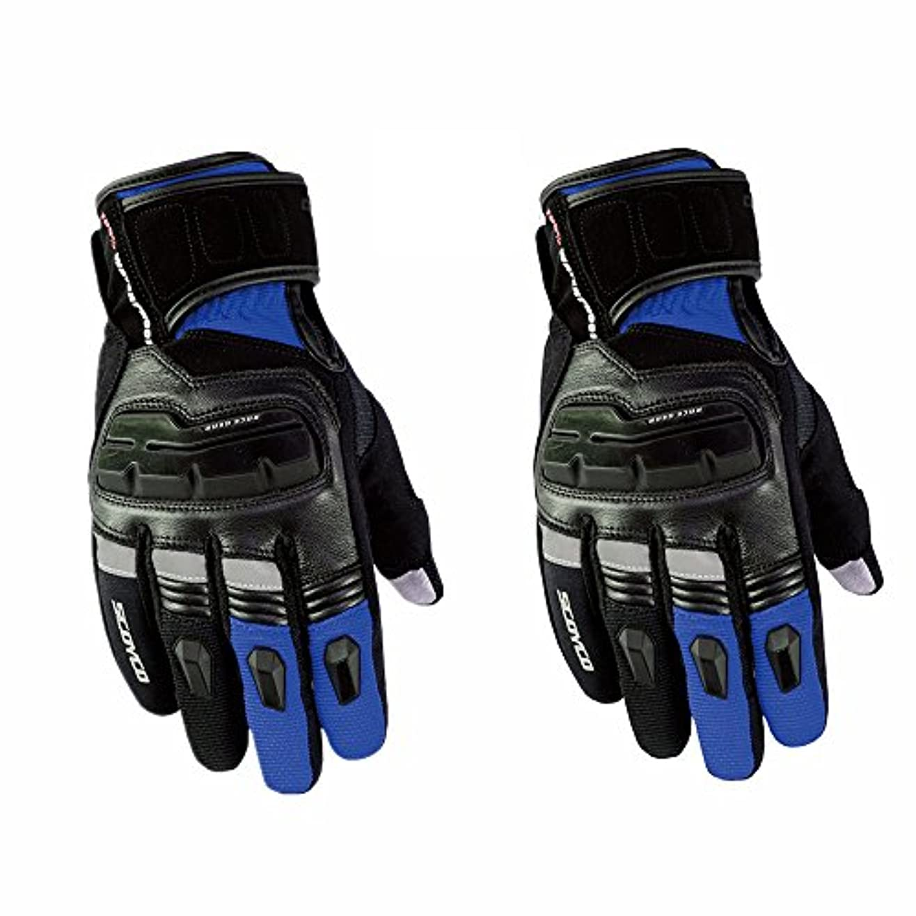 シンプルさ増加する出撃者手のひら保護手袋 保護バイク用手袋 自転車 マウンテンバイク 男性手袋 に適用する バイク 自転車 レーシング 維持しやすい (色 : 青, サイズ : XL)