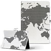 igcase d-01J dtab Compact Huawei ファーウェイ タブレット 手帳型 タブレットケース タブレットカバー カバー レザー ケース 手帳タイプ フリップ ダイアリー 二つ折り 直接貼り付けタイプ 012961 世界地図 地図