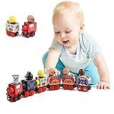 [Lucky Rainbow]木製のおもちゃ車 子供 知育 健康 積み木 セット全6種 磁石つき...