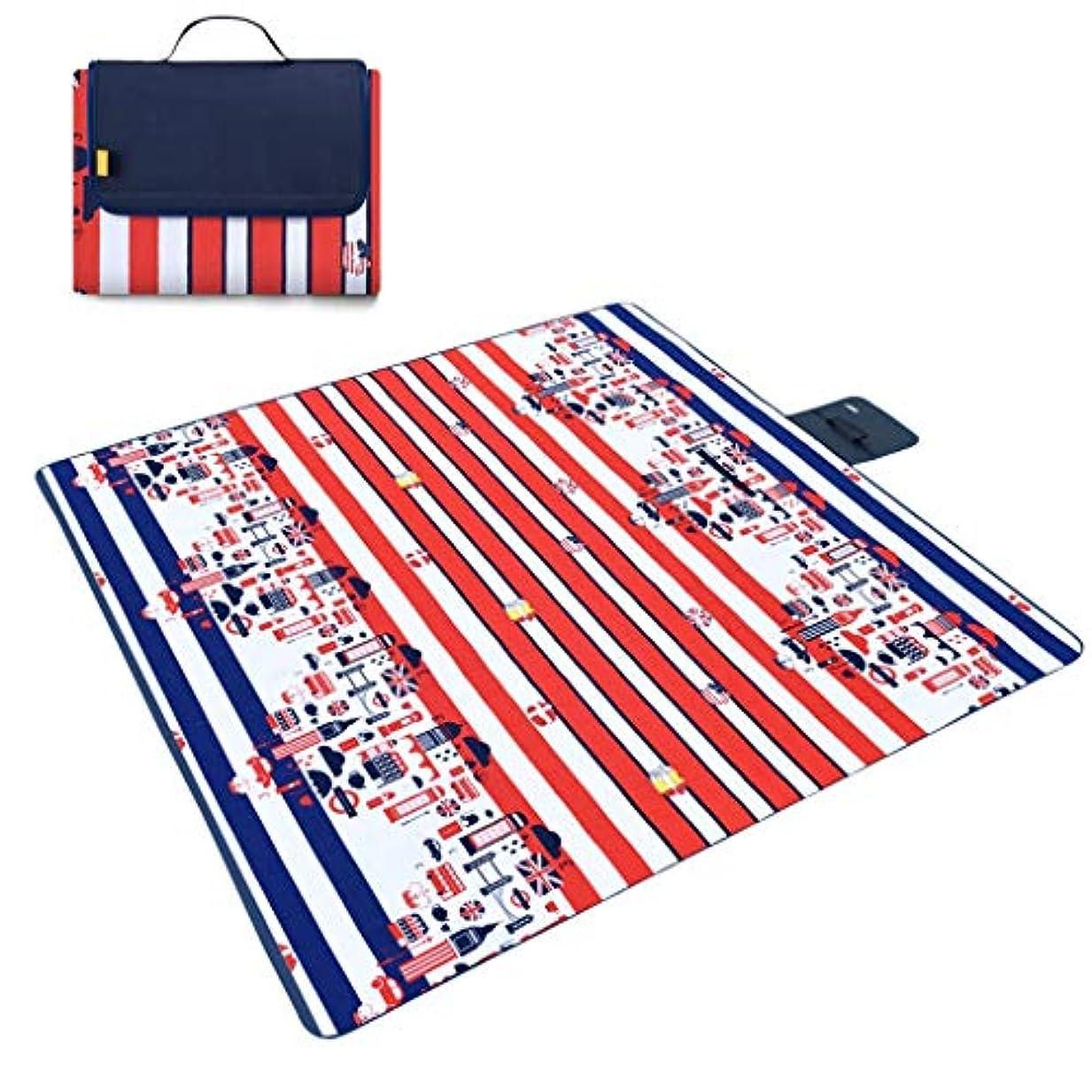 憂慮すべき個人こしょうピクニック毛布屋外折りたたみビーチマットピクニックマット防水サンドキャンプキャンプハンドル家族の日中旅行 (Size : 200*200cm)