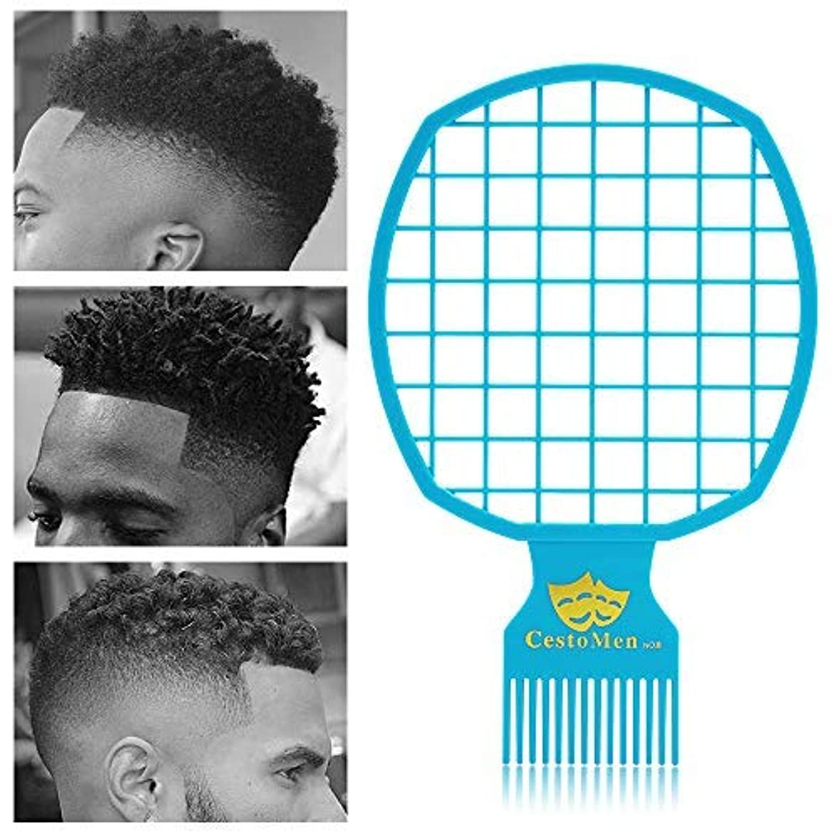 わずかに代わりにを立てるブレスMagic Afro & Twist Comb - Weave Hair & Dreadlocks - For Barber and Personal Use - Easy to Clean (Blue) [並行輸入品]