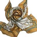 シルクスカーフ 日本製スカーフ レディーススカーフ スカーフ大判 8083 3色あり (マスタード)