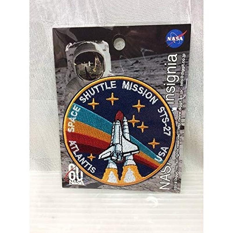 令状うれしいセンチメンタルNASA公認(アメリカ航空宇宙局) ワッペン スペースシャトルミッション・STS-27 アイロンワッペン 刺繍、エンブレム アップリケ アメ雑 アメリカン雑貨