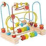 F Fityle ビーズ迷路玩具 果物認知 色認知 ビーズコースター ルーピング おもちゃ 木製