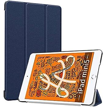 iPad mini 5 ケース TopACE 超薄型 スマートケース スタンド機能付き 高級PU レザーケース iPad mini 5 2019 対応 (ブルー)