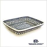 [Zaklady Ceramiczne Boleslawiec/ザクワディ ボレスワヴィエツ陶器] グラタン皿(スクエア)-922 ポーリッシュポタリー