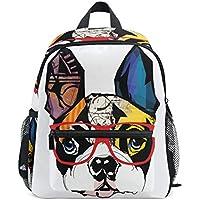 SKYDA Backpack for School Girls Boys Bags French Bulldog Printing Travel Bag