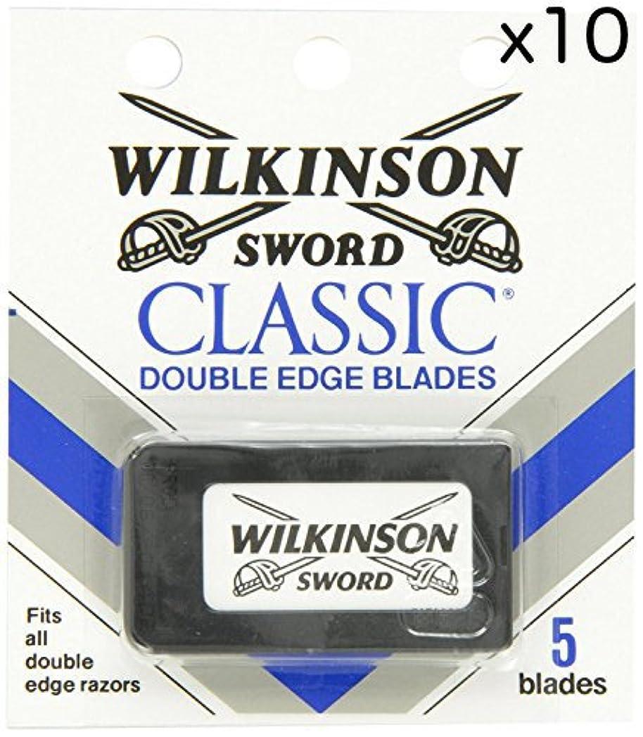 セラー長くするジャンプWilkinson Sword ウィルキンソンソード 両刃替刃 50個入り (5 x 10) [並行輸入品]