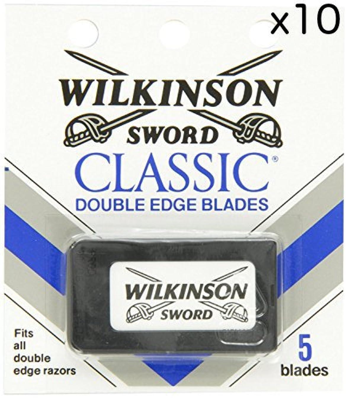 抹消隣接する練習したWilkinson Sword ウィルキンソンソード 両刃替刃 50個入り (5 x 10) [並行輸入品]