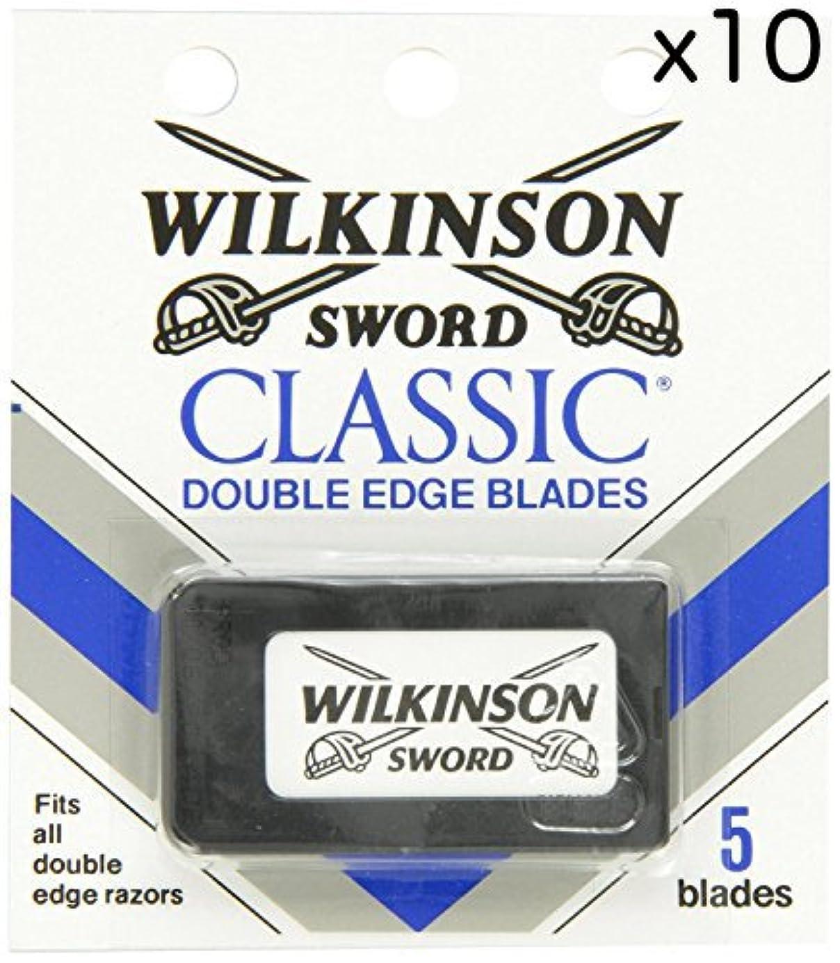 南アメリカ登山家狐Wilkinson Sword ウィルキンソンソード 両刃替刃 50個入り (5 x 10) [並行輸入品]