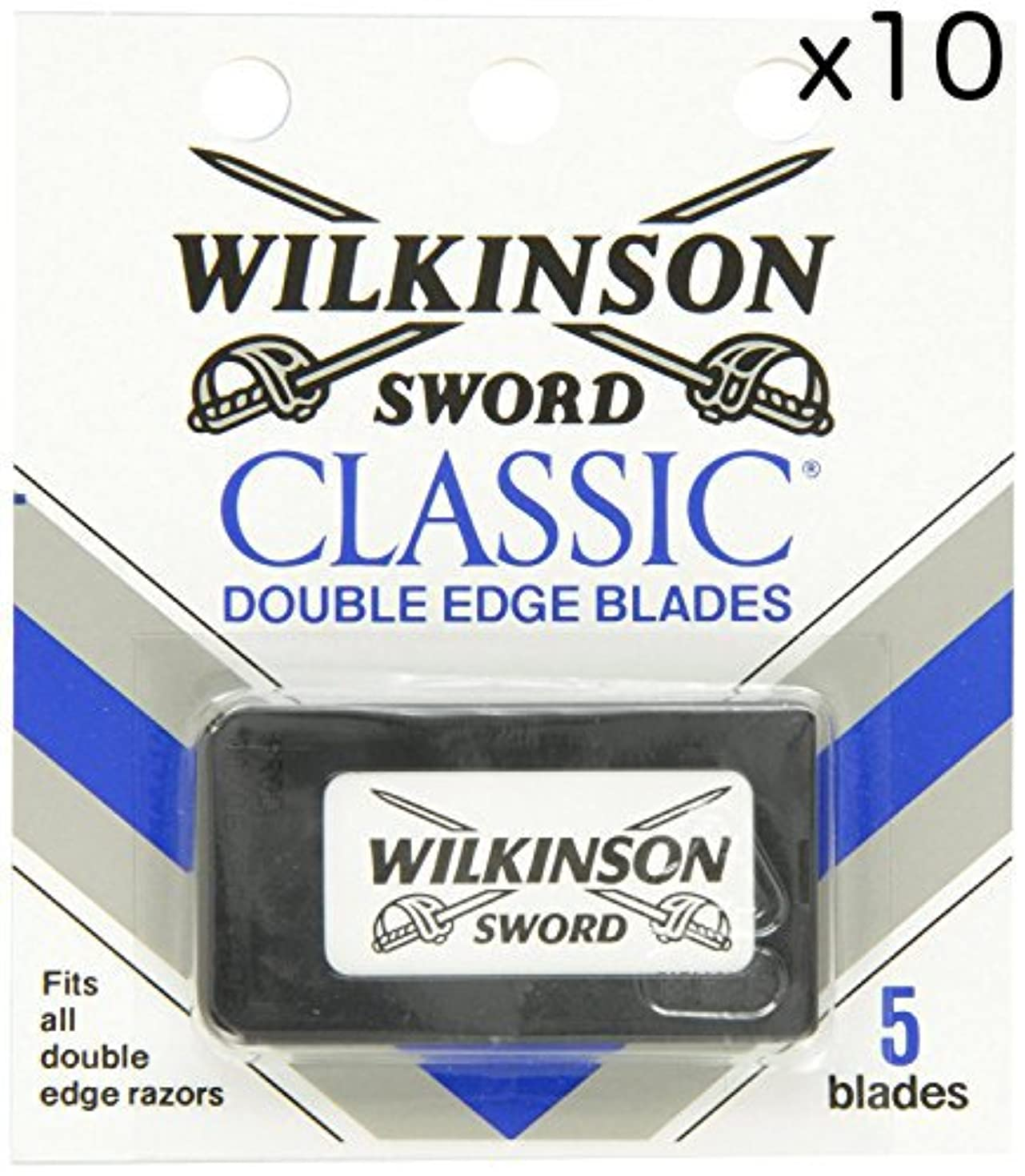 地上でアヒル代替Wilkinson Sword ウィルキンソンソード 両刃替刃 50個入り (5 x 10) [並行輸入品]