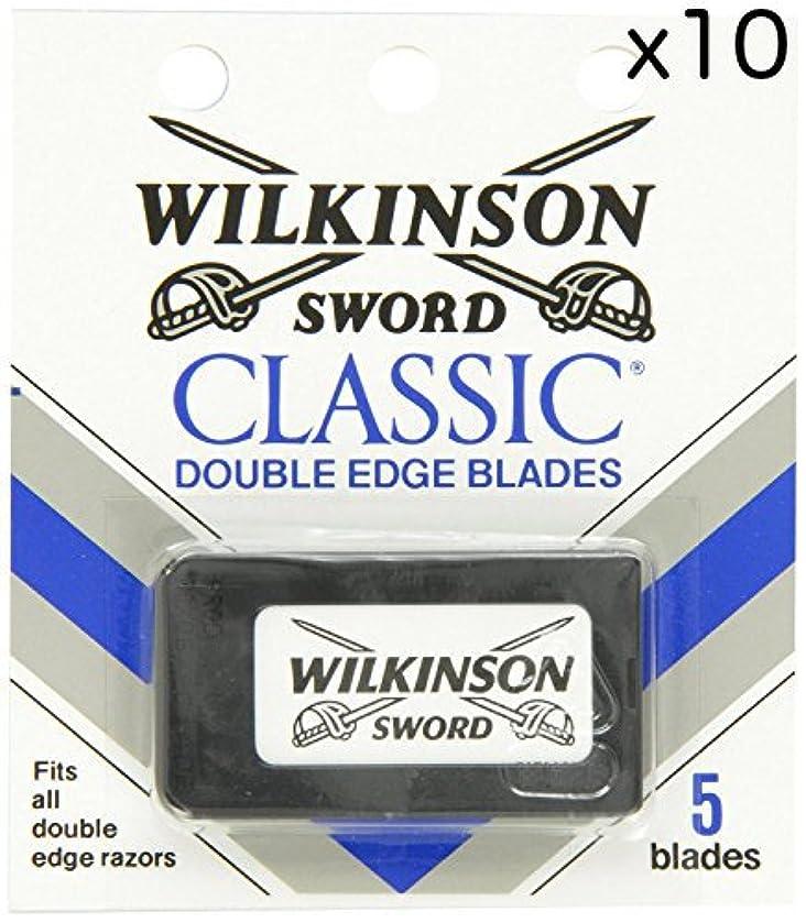 専ら活性化配当Wilkinson Sword ウィルキンソンソード 両刃替刃 50個入り (5 x 10) [並行輸入品]