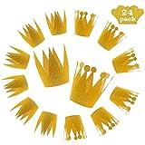 ゴールドクラウンハット パーティーデコレーション 24個セット